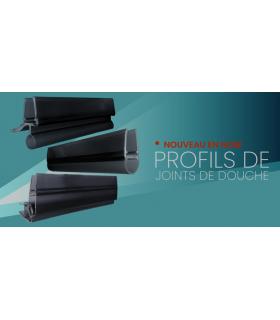 Joint d'étanchéité magnétique 90° PVC Noir