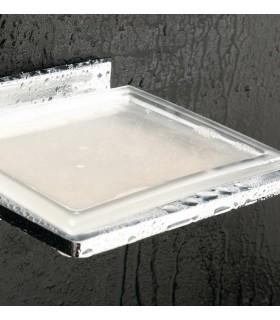 Etagère porte savon fixation murale avec réceptacle verre série Valencia VBA904