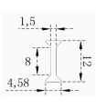 Profil de connexion en H & I pour panneau en verre