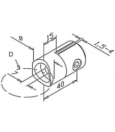 Pince à tôle montage sur tube rond