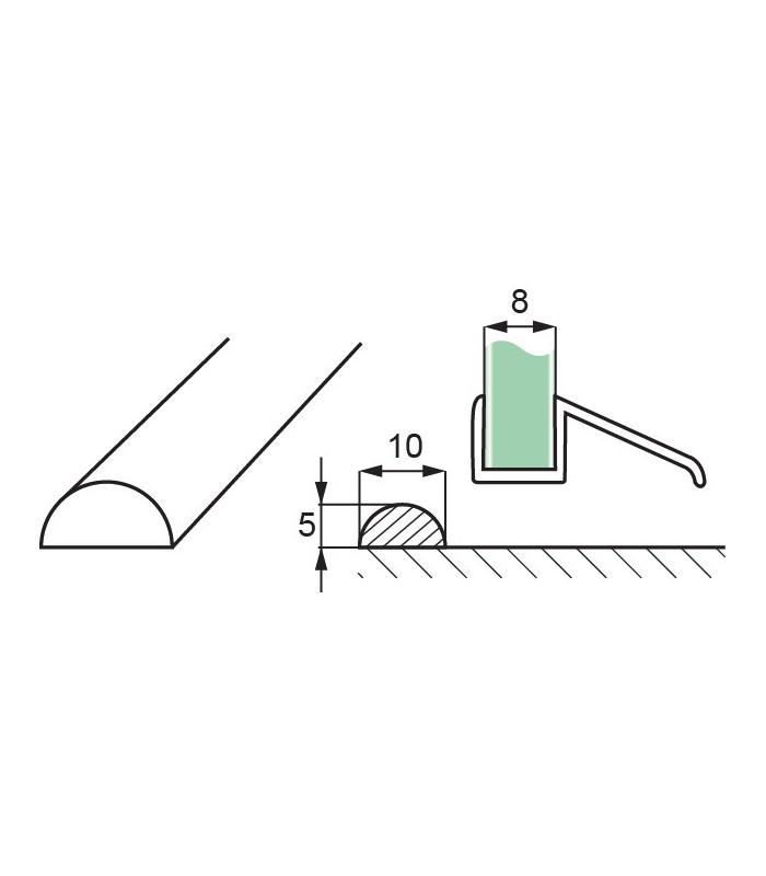 Profil De Seuil En Polycarbonate 1 2 Rond Lg 2500 Mm