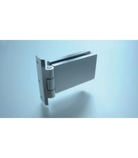 Paumelle avec fiche de 17.5 mm pour porte clarit en verre