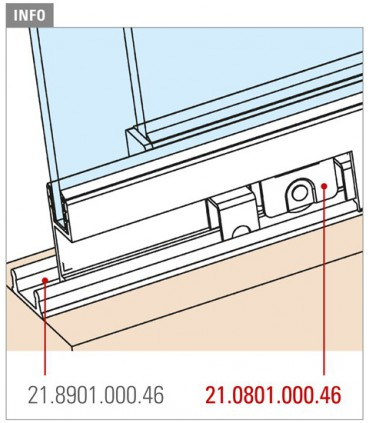 Galet pour porte coulissante de vitrine en verre