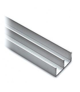 Rail haut pour porte de vitrine en verre coulissante