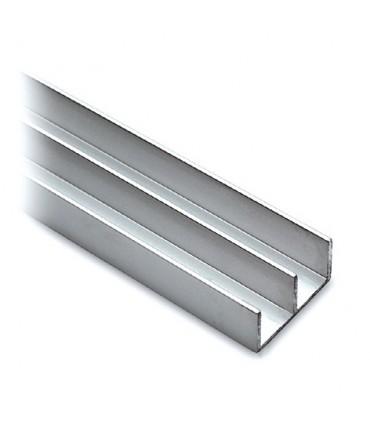 Rail de guidage haut pour porte de vitrine en verre coulissante