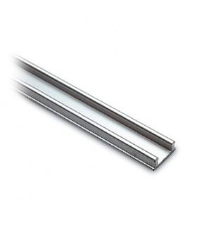 Rail bas pour porte de vitrine en verre coulissante