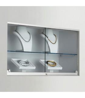 Kit pour porte de vitrine en verre coulissante avec serrure