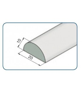 Profil de seuil en polycarbonate 1/2 rond 20 mm