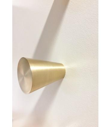 Poignée bouton cône en laiton massif