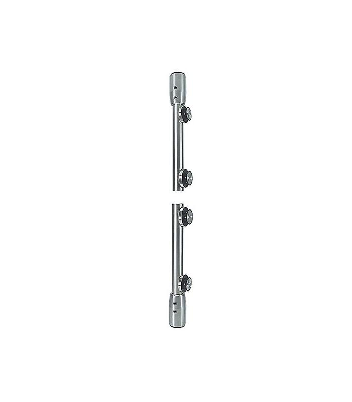 Set de deux pivots vertical pour porte en verre