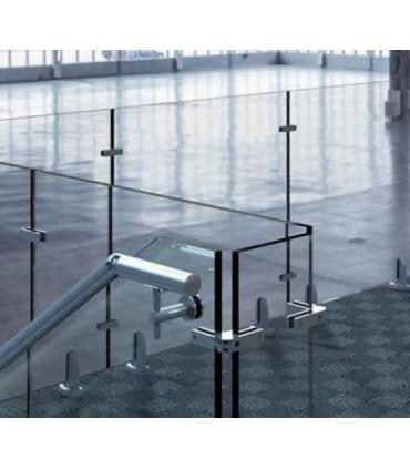 Raidisseur articulé verre sur verre pour garde-corps en verre