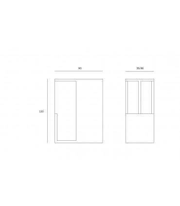 Poignée encastrée série M1 pour porte coulissante en bois