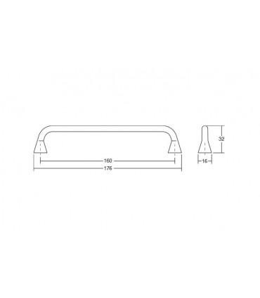 Poignée de meuble série Bella 0447 par Viefe
