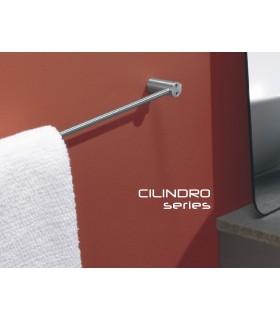Porte serviette série Cilindro en inox brossé