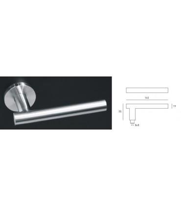 Paire de poignée béquille tubulaire droite série J45