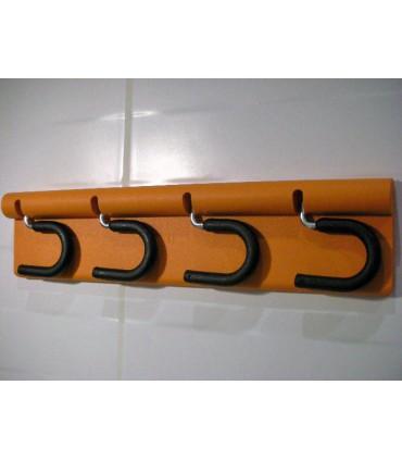Crochets porte balais orange