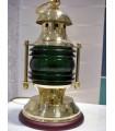 Lampe de table série Nautic laiton poli verre vert