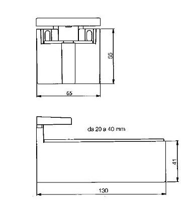 Support d'étagère série MAF-5 ép.20/40 mm