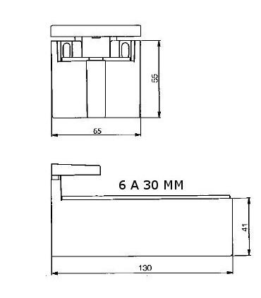 Support d'étagère série MAF-5 ép.6/30 mm