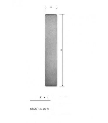 Set de deux poignées série Sly rectangulaires pleines ht 150