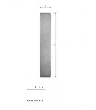 Set de deux poignées série Sly rectangulaires pleines ht.300