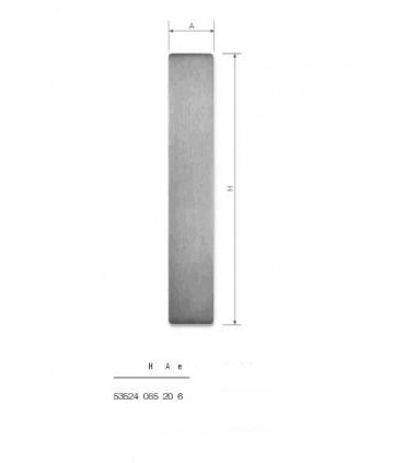 Set de deux poignées série Sly rectangulaires pleines ht 85