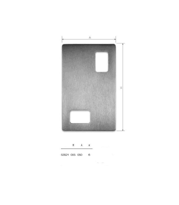 Set de deux poignées série Sly rectangulaires 2 découpes ht 85