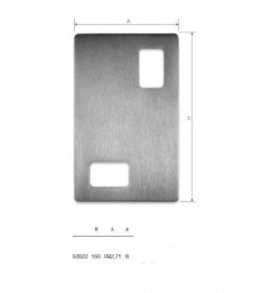 Set de deux poignées série Sly rectangulaires 2 découpes ht 150