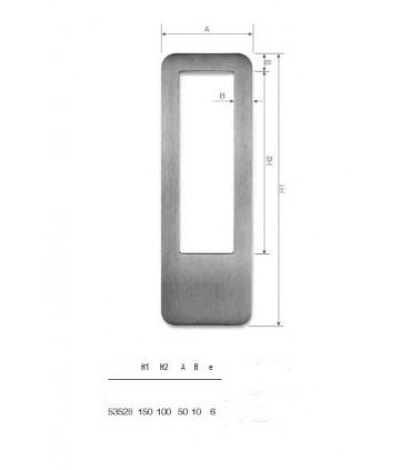Set de deux poignées série Sly rectangulaires 1 découpe ht 150
