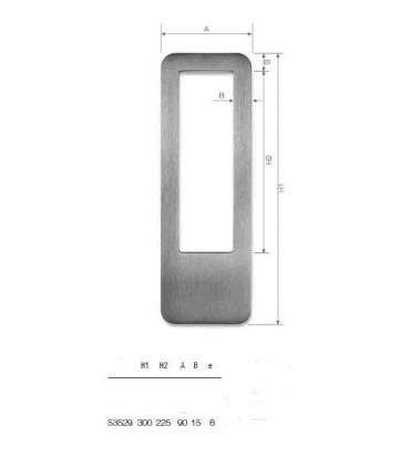 Set de deux poignées série Sly rectangulaires 1 découpe ht 300