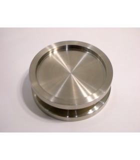 Poignée disque inox ouvert ou borgne