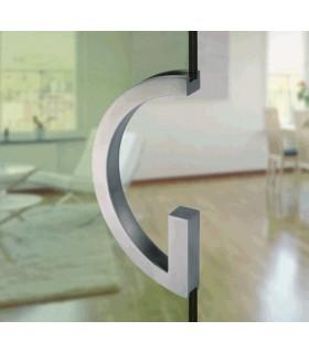 Poignée encastrée série Gé.G à coller sur porte en bois ou en verre