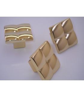 Poignée Bouton série Cell doré brillant