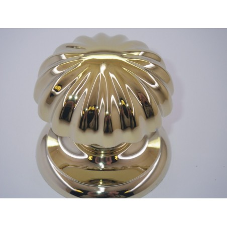 Poignée bouton de porte série Marghétita laiton poli