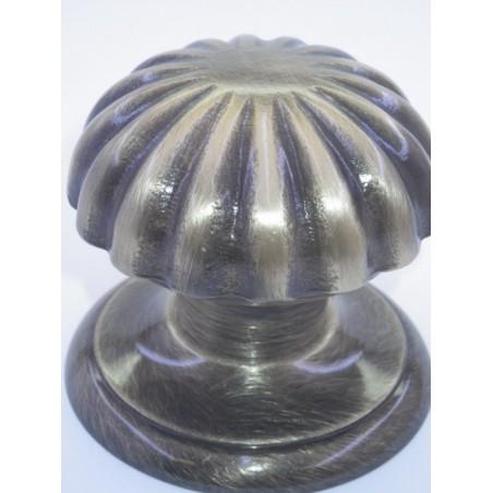 Poignée bouton de porte série Marghétita bronze