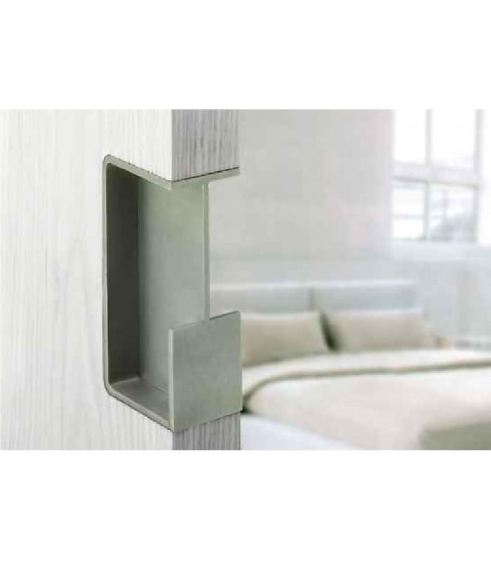 Poign e encastrer pour porte coulissante en bois ou en - Poignee cuvette pour porte coulissante ...