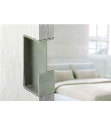 Poignée encastrée série Did.4250 pour porte coulissante en verre ou en bois