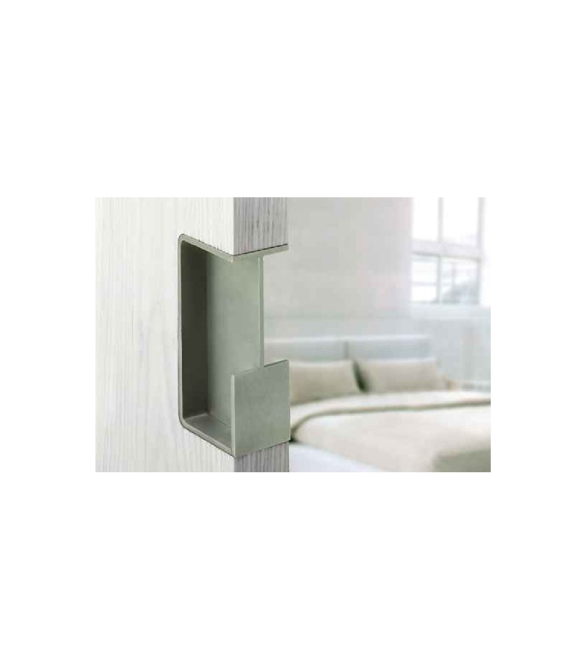 Barre Pour Porte Coulissante poignée encastrée série did.4250 pour porte coulissante en verre ou bois