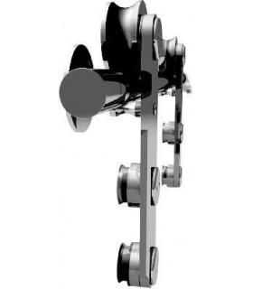 Kit roller série A system pour porte coulissante en verre