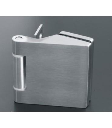 Charnière en inox ou aluminium pour porte en verre