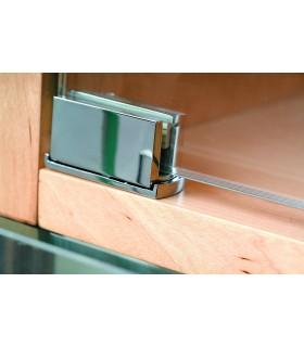 Paire de charnière pour porte de vitrine en verre