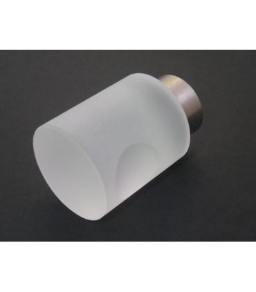 Poignée bouton verre satiné cylindrique