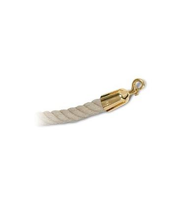 Cordon corde naturel et doré