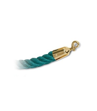 Cordon corde vert et doré