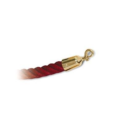Cordon corde rouge et doré