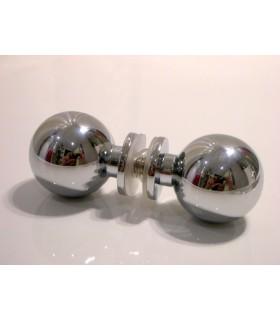 Paire de poignée bouton rond pour porte en verre
