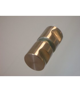 Paire de poignée bouton inox brossé 30 mm