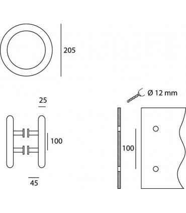 Poignée tubulaire ronde technique