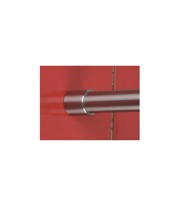 Embase inox brossé pour tube