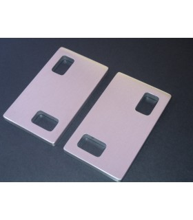 Deux poignées série Sly rectangulaires 2 découpes à coller
